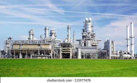 Refinery plant at Europort harbor, Rotterdam