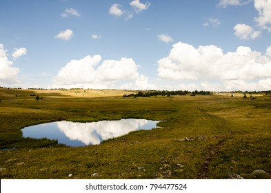 Reflected meadow lake