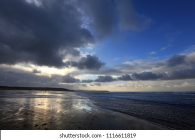 Reflected Sky on Freshwater West Beach, Pembrokeshire, Wales