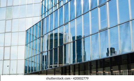 Reflection of 20 Fenchurch building London horizontal photography glass building modern architecture