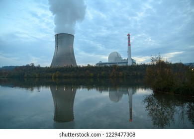 Reflection of an atomic reactor in the water