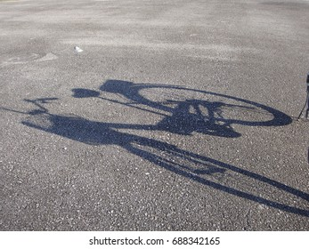 Reflection of bicycle at old airport
