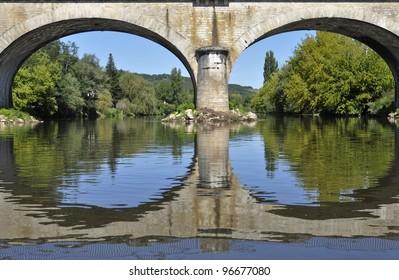 Reflection of a bridge