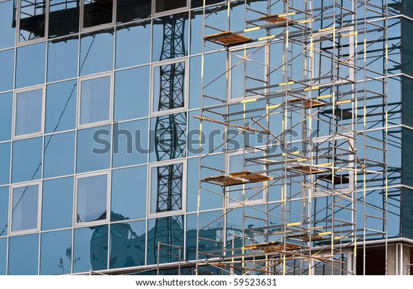 Reflection Building Designs Windows Modern Office Stock Photo ...