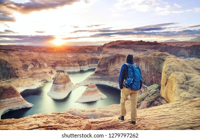Reflection canyon in Powell lake, USA