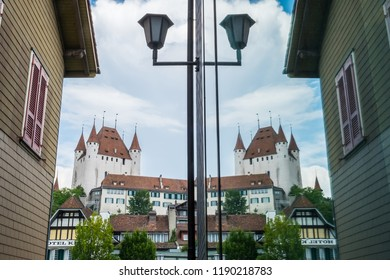 reflection of castle in Thun, Swiss