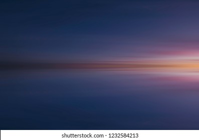 Reflection of colorful abstract sunset background - Stock image