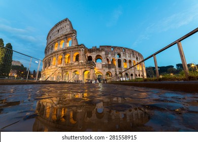 Reflection of Colosseum, Rome