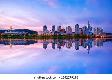 Reflection of Daejeon City , South Korea.