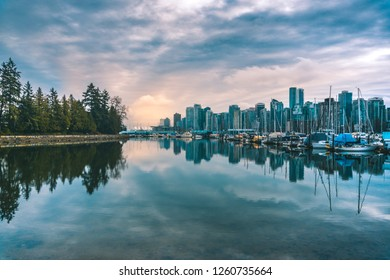 Reflection of downtown, Vancouver