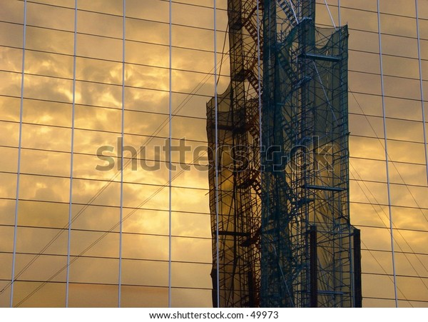 Reflection of industrial structure on a corporate building