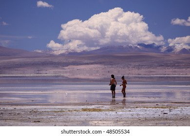 Reflection from a lagoon in Bolivia