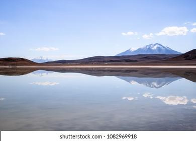 Reflection in a lagoon- Nor Lipez province, Bolivia