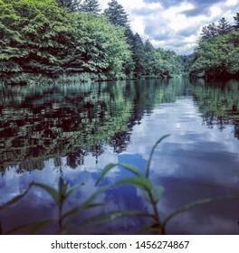 reflection lake in the Karuizawa