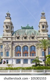 Reflection i mirror. Monte Carlo Casino is a gambling and entertainment complex located in Monte Carlo, Monaco. Complex includes a casino and Grand Theater de Monte Carlo. Architect - Charles Garnier.