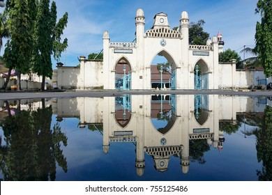 reflection mosque building gedhe solo after rain, Solo, Jawa Tengah, Indonesia