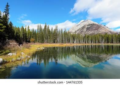 Reflection of Mount Buller in Buller Pond Kananaskis Alberta Canada