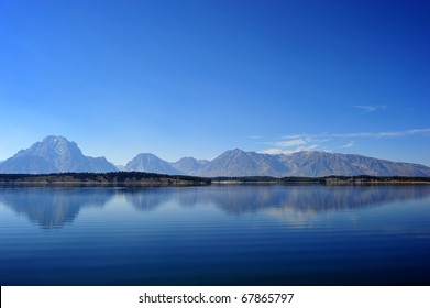 reflection of the mountain