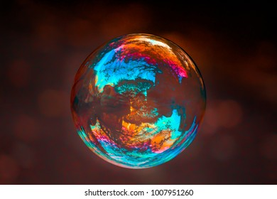 reflection on a bubble