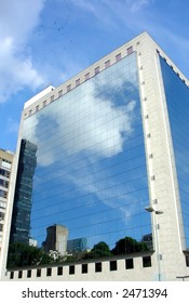 Reflection on the buildings in Rio de Janeiro, Brazil