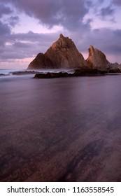 reflection on playa de arnia
