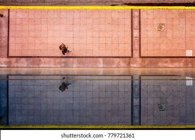 Reflection of a pool, Buenos Aires, Argentina