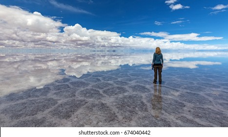 Reflection at Salt Lake Uyuni (bolivia)