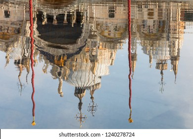 Reflection of San Marco cathedral, Venice, Italy