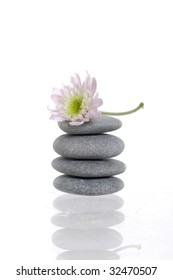 Reflection of stones for spa therapy
