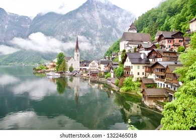 Reflection in summer of Hallstatt, Austria