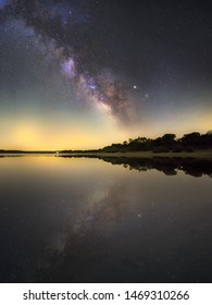 Reflection of the universe, milky way