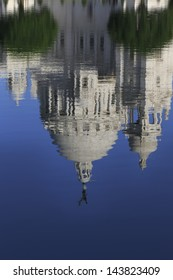 Reflection of Victoria Memorial In Kolkata, one of the famous Historical Monument of Indian Architecture. It was built between 1906 & 1921 to commemorate Queen Victoria's 25 years reign in India.