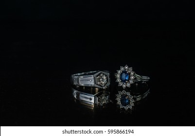 reflection of wedding rings