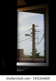 The reflection in the window. Illusion