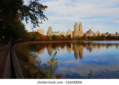 Reflections of Fall in Central Park, NYC
