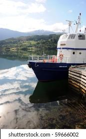 Reflections in Hardangerfjord at Ulvik, Norway