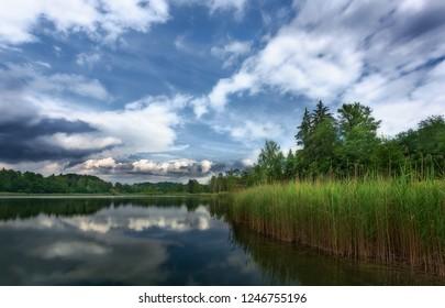 Reflections at the lake Husemersee