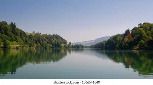 Reflections at Lake Rotsee in Lucerne, Switzerland