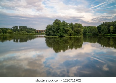 reflections at the Obersee in Bielefeld