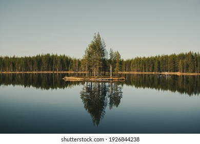 Reflections on a lake in Finnish nature