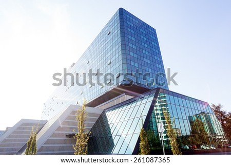 22df8322364c Reflections On Modern Buildings Blue Green Stock Photo (Edit Now ...