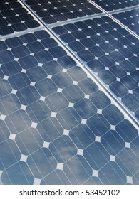reflections on solar panel