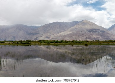 Mountain's reflections on the way to Nubra Valley, Indai Aug 2017.