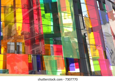 reflections in perspex shapes in madrid