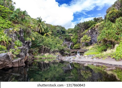 Reflections at the Seven Sacred Pools, Maui, Hawaii