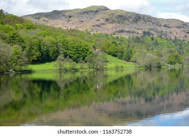 Reflections from shores of Grasmere, Lake District