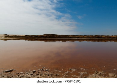Reflections from Ugab river mouth, Skeleton Coast, Namibia