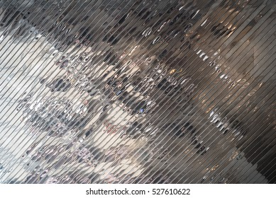 Reflective metal surface