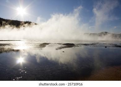 Reflective Pool in Yellowstone