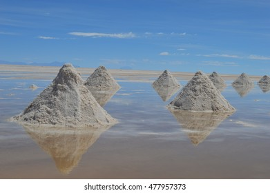 Reflective Salt Pyramids, Uyuni, Bolivia 03/03/2016